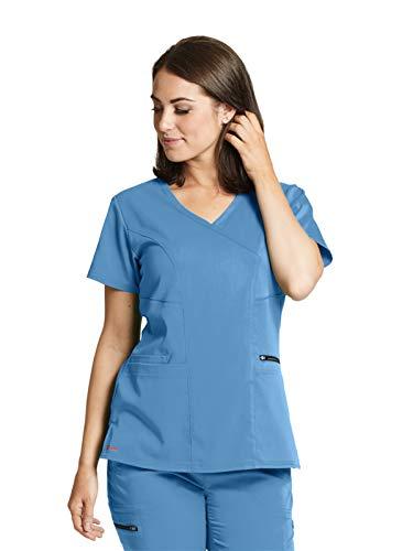 Grey's Anatomy GRST001 Princess Scrub Top - Spandex Stretch Ciel Blue S