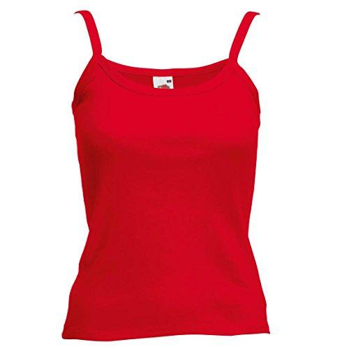 Nuevo Fruit of the Loom de mujer para senderismo autoadhesivas para-tela Lady-fit correa de fijación de la sin mangas camiseta para hombre Rosso