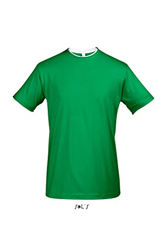 Sols - Madison - Herren Layer T-Shirt Raw Cut , Bright Green , M