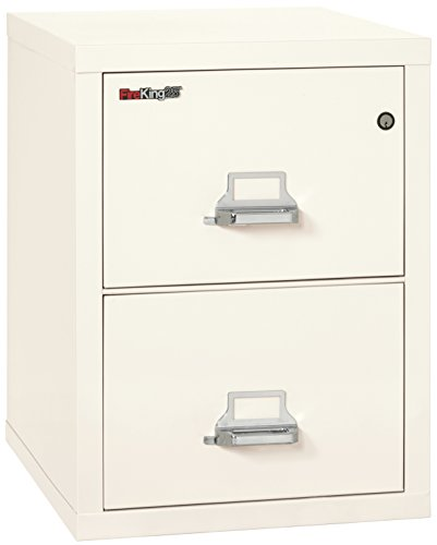 Fireking Fireproof Vertical File Cabinet (2 Letter Sized Drawers, Impact Resistant, Waterproof), 27.75