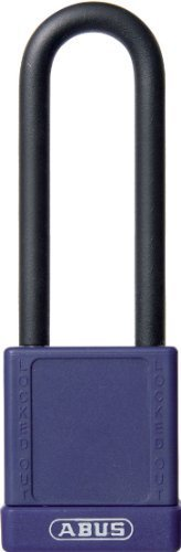 ABUS 74HB/40-75 KA Safety Lockout Non-Conductive Keyed Alike Padlock with 3-Inch Shackle, Purple by ABUS
