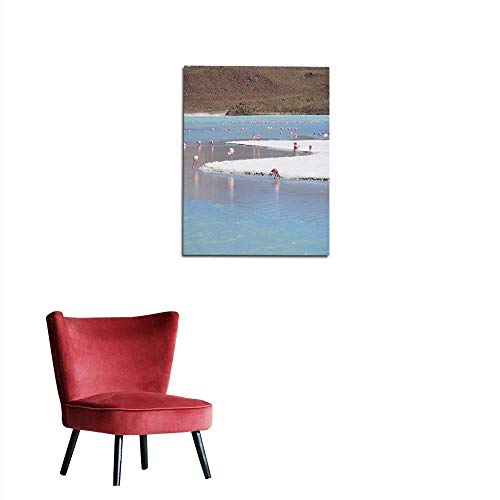 - longbuyer Photo Wall Paper Flamingos in Crystal Clear Blue Lake Bolivia Mural 20