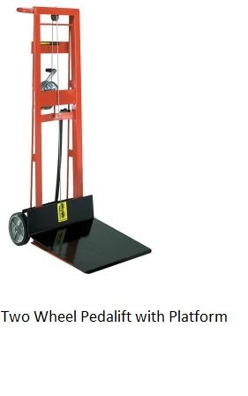 Wesco Mfg, Winch Operated Four Wheel With Platform, Pl4-54-2222-W, Oa Dims - Wxdxh: 22.5 X 32 X 60.5, Raised Hgt: 54, Platform Size: 22 X 22, -