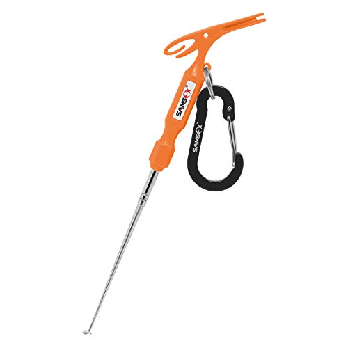 SAMSFX Fishing Loop Tyer and Quick Knot Tool Fishing Hook Remover Tools (Orange Handle) ()
