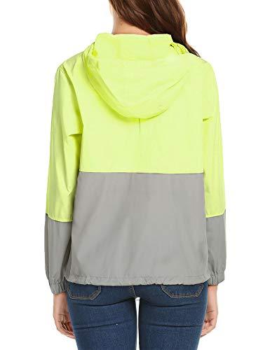 Jacket Lightwaight Windbreaker Waterproof Outdoor zhenwei Green Raincoat Rain Women's Hooded tgOIPwqn4x