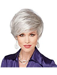 (Panda Hair Short Silver White Synthetic Wigs Party Cosplay Halloween Hair Wigs for Women )