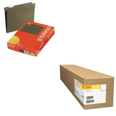 KITBMG08400124AUNV14115 - Value Kit - Kodak Professional Inkjet Fibre Glossy Fine Art Paper Roll (BMG08400124A) and Universal Hanging File Folders (UNV14115) by Kodak