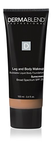 Dermablend Leg and Body Makeup, with SPF 25. Skin Perfecting Body Foundation for Flawless Legs with a Smooth, Even Tone Finish, 3.4 Fl. Oz. (Best Body Makeup For Scars)