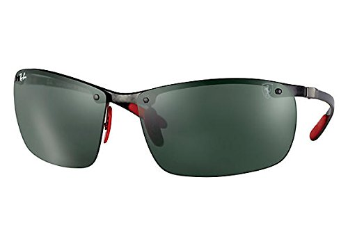 Ray-Ban Men's 0rb8305mf0057164man Square Sunglasses, Dark Carbon, 64 - Ray Carbon Ban