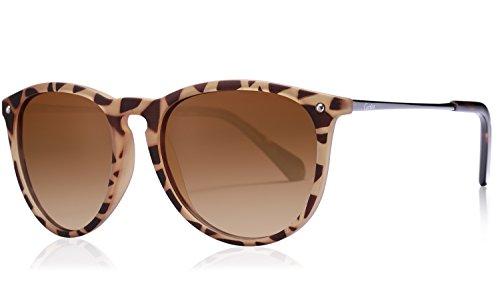 Carfia Vintage Polarized Sunglasses for Women Men, 100% UV400 - Designer-glasses.co.uk