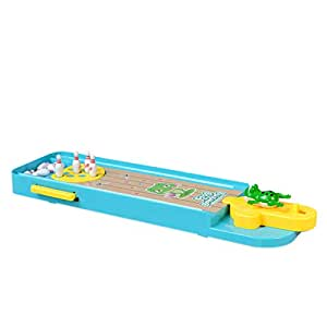 SODIAL Kids Mini Desktop Bowling Game Toy Funny Indoor Parent-Child Interactive Table Sports Game Toy Bowling Educational Gift