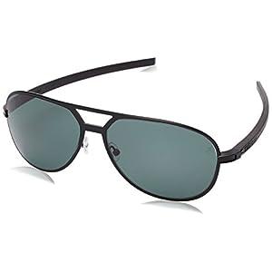 TAG HEUER Unisex-Adult 66 0986 305 621503 66 0986 305 621503 Polarized Aviator Sunglasses, Black, 62 mm