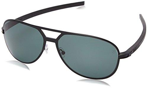 Tag Heuer Senna Racing 986 305 986305 Polarized Aviator Sunglasses, Black,Black & Green Precision, 62 mm