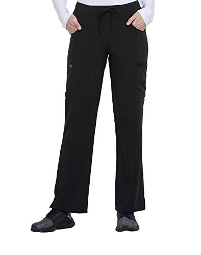 Dickies EDS Essentials Mid Rise Straight Leg Drawstring Scrub Pant, L, Black from Dickies