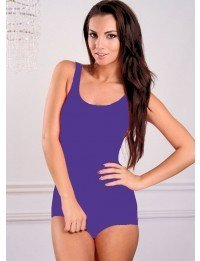 1 PC. Missy Purple Low Cut Swimsuit - 18 - Purple at