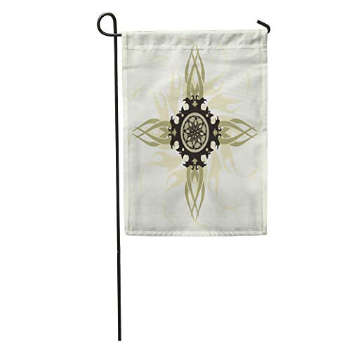 Semtomn Garden Flag Tribal Cross Holy Trinity Admiration Baptist Belief Bible Black Home Yard House Decor Barnner Outdoor Stand 12x18 Inches Flag from Semtomn