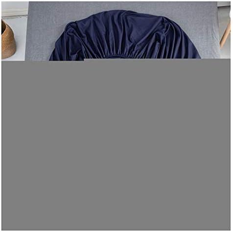 JYBHSH Polyester Solide Matelas avec Quatre Coins et Feuilles élastiques (Color : Bai Se, Size : 180cmX220cmX25cm)