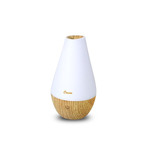 Crane Essential Oil Diffuser Aroma Essential Oil Cool Mist Humidifier with Adjustable Mist and Waterless Auto Shut-Off, Wood (Elevate Diffuser Essential Oil)