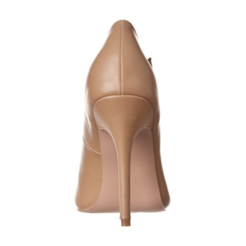 Strap Sadie Round High Pu Women's Toe Taupe Riverberry T Heel Pumps 5wXgqaPUO