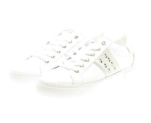 Guess Silve Baskets Femme Lik Bianco Lady Gamer5 white active leather gSvrUgB