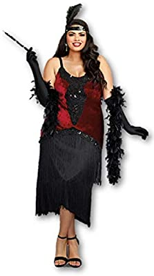 Dreamgirl Million Dollar Baby Women's Costume Great Gatsby Deluxe Flapper 1x-3x