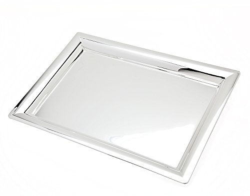 Godinger 11 in. x 16 in. Rectangular Tray (Gold Silver Bureau)