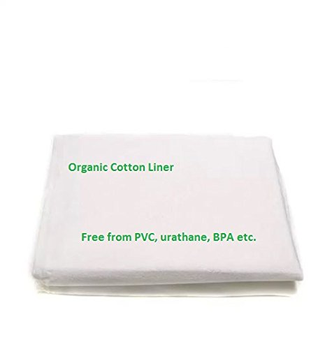 Organic Waterproof Liner Pad - Free from PVC, Urethane, BPA and Chemicals. Organic Cotton (Porta Crib) by OrganicTextiles