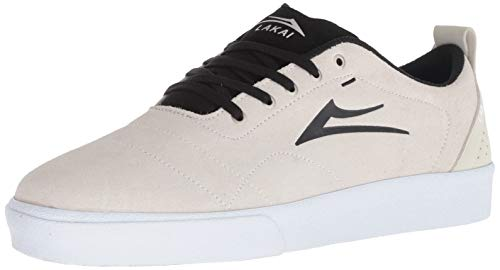 Lakai Men's Bristol, White/Black Suede, 11.5 M US