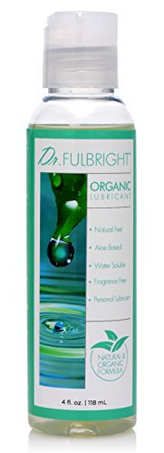 Dr. Fulbright Organic Water-Based Lubricant, 4 Fluid Ounce - Lubricant Condom Safe