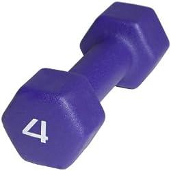 Cap Barbell Neoprene Dumbbell, 4-Pound, Purple