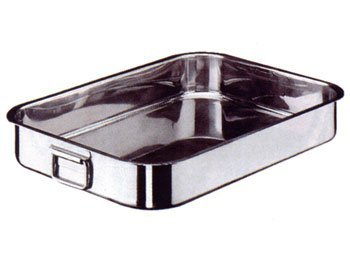 Heavy Rectangular Roasting Pan Folding Handles S/Steel