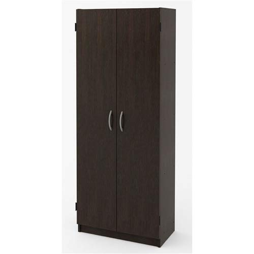 LordBee Modern 2-Door Armoire Wardrobe Storage Cabinet in Espresso Wood Finish Comfortable Portable Easy Construction Household Tools by LordBee