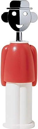 Sacacorchos con un diseño simple y elegante que representa a un hombre sonriente,Designer: Alessandr