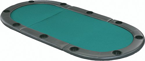 - Fat Cat Tri-Fold Poker Game Table Top with Cushioned Rail