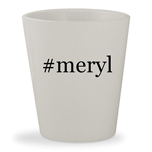 Price comparison product image #meryl - White Hashtag Ceramic 1.5oz Shot Glass