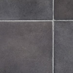 Black Slate Tile Effect Vinyl Flooring 3x2m Kitchen Floors