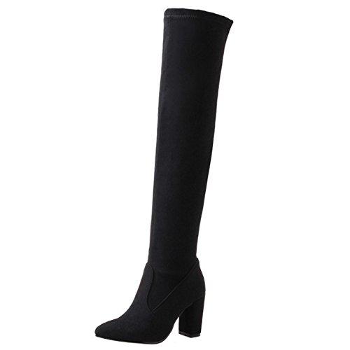 Boots Women's Black Taoffen Pull On Long wvxHCEqO1