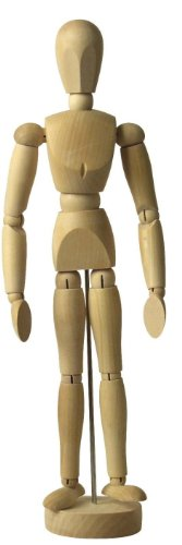 Zen Art Supply® 16'' Inch Human Artist Model Drawing Mannequin Body Articulated by EDMBG