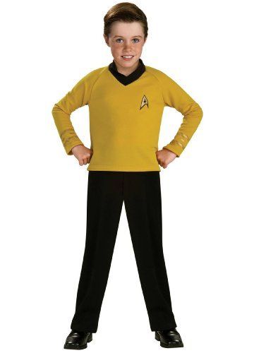 Star Trek Classic Gold Child Costume (As Shown;Large) by Rubie's Costumes