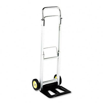 - Safco Hide-Away Office Industrial Folding Wheeled Luggage Storage Cart Aluminum Hand Truck