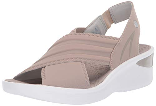 BZees Women's Sunset Sandal, Taupe Lycra Fabric, 9.5 M US from BZees