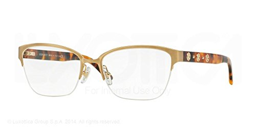Versace Eyeglasses VE 1224 Eyeglasses 1352 Brushed Gold - Eyeglass Rimless Versace Frames