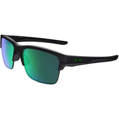 Oakley Men's Thinlink Non-polarized Iridium Rectangular Sunglasses, MATTE BLACK, 62.3 mm (Oakley Sonnenbrille Matte Black)