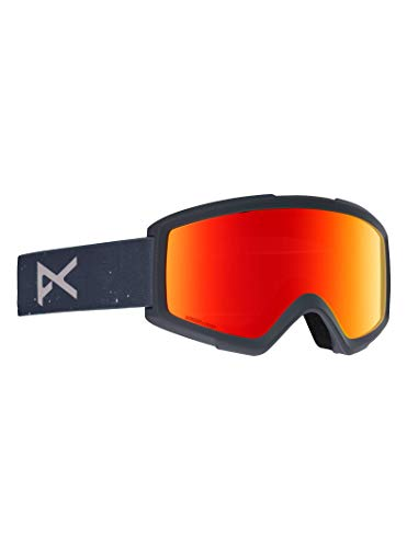 Anon Helix 2 Goggle with Spare Lens, Rush Frame Sonar Red ()