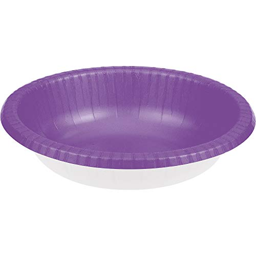 - Club Pack of 200 Amethyst Purple Premium Disposable Paper Party Bowls 20Oz.