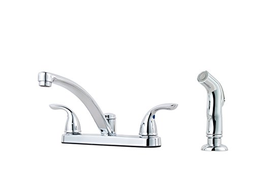 - Pfister G1358000 Pfirst Two Handle Kitchen Faucet with Spray, Chrome