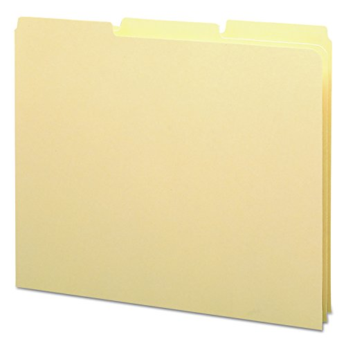 (Smead Heavyweight File Guides, 1/3 Cut Tab (Blank), Letter Size, Manila, 100 Per Box (50134))