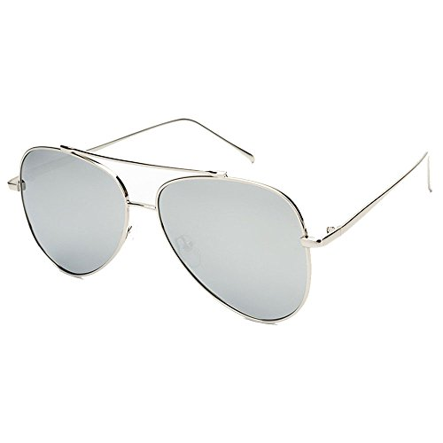 de Hombre Plata 400 La UV Aviator para SunglassesMAN Gafas Yxsd polarizadas Protección Sol Marco de Color Gray cT7f1Ufa