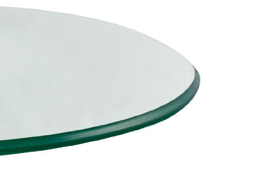 TroySys Tempered Glass Table Top, 3/8 Inch Thick, Pencil Polish Edge, Round, 56'' L by TroySys (Image #4)