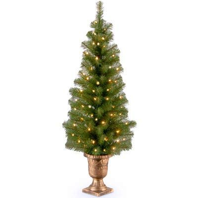 National Tree 238825 19 in. x 4 ft. Montclair Spruce Entrance Artificial Tree with 70 Clear Lights & 180 -